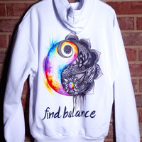 Find Balance Pullover Hoodie!