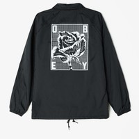 Rose Grid Coaches Jacket