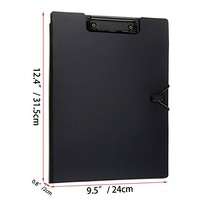 Portfolio Padfolio Clipboard Folders, Kakbpe Bussiness Letter Size Padfolio with Refillable Notepads, Give a Total of 100 Note Page Markers in Five Colors-Black, Letter Size