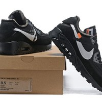 Off White x Nike Air Max 90 OW AA7293-001 36-46