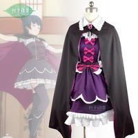 Japanese cartoon Anime LoveLive!Sunshine!! cosplay Tsushima Yoshiko cos Halloween party woman dress set cosplay costume