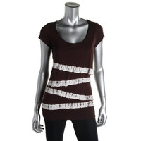 INC Womens Tiered Embellished T-Shirt