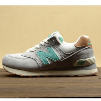 New balance Leisure shoes running shoes men's shoes for women's shoes couples N word Light grey