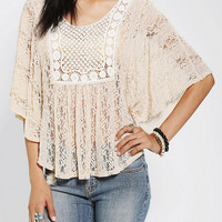 Urban Outfitters - Staring At Stars Crochet-Yoke Top