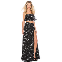 The new star print chiffon sexy wrapped chest [9430870724]