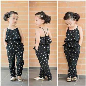 Girl Romper  Summer Kids Baby Girls Clothes Sleeveless Dress Jumpsuit Trousers Outfits