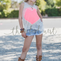 Knitted Heart Tank