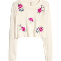 Embroidered Sweater - from H&M