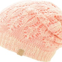Empyre Noble Vanilla & Pink Reversible Lace Beanie