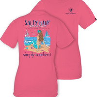 Simply Southern Mermaid Tee - Strawberry