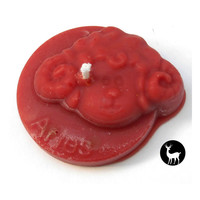 Aries Zodiac Candle, Fire Sign