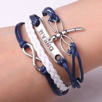 Rope Bracelet Navy Blue Always DREAM Bracelet