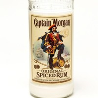 (1) Captain Morgan® Tall 24 oz Candle With Wick - Bottle Heaven