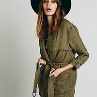 Free People Womens Belted Wrap Jacket