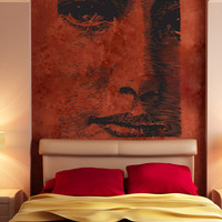 Vinyl Wall Decal Sticker Square Vintage Face #1541