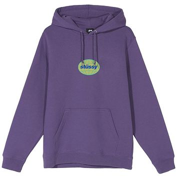 Stussy Global App. Hoodie Purple