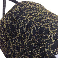 Sample Sale! Black and Gold Lace Replacement Canopy or Hood for Bugaboo Cameleon or Cameleon3. Regular price 145