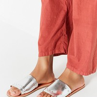 Silver Hearts Slide Sandal | Urban Outfitters