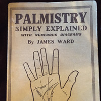 "Vintage ""Palmistry, Simply Explained with Numerous Diagrams"" by James Ward"