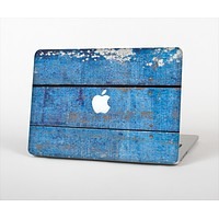 """The Worn Blue Paint on Wooden Planks Skin Set for the Apple MacBook Pro 13""""   (A1278)"""