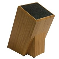Kapoosh Dice Knife Block, Bamboo Wood
