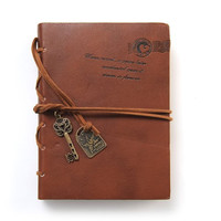 EvZ Journal Diary String Key Retro Vintage Classic Leather Bound Notebook