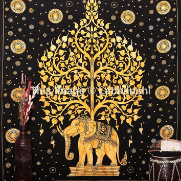 Large Elephant Tapestries , Hippie Gypsy tapestry Tree Of Life Tapestries Wall Tapestries  Bohemian tapestries Tie Dye Tapestry Wall Hanging