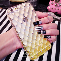 Fantasy Gradient Color TPU Mobile Phone Case For iPhone 6 4.7 6S Full Body Glitter Diamond Clear Cover For iPhone 6/6S Plus 5.5