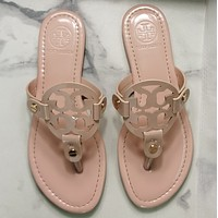 TORY BURCH[tb] New style square slippers-5