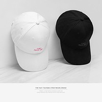 New Arrivals Black White Embroidery Couple Baseball Cap Snapback Casual Hiphop Summer Baseball Caps