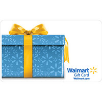 Walmart: Blue Present with Yellow Ribbon Gift Card