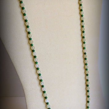 Necklace of Jade and Azurite Malachite, Statteam