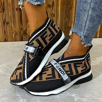 FENID canvas letters men's and women's sports shoes casual shoes