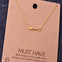 Dainty Arrow Necklace - Gold, Silver or Rose Gold