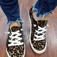 Kelly Leopard Canvas Sneakers