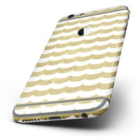 The White and Gold Foil v9 Six-Piece Skin Kit for the iPhone 6/6s or 6/6s Plus