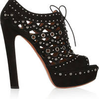 Alaïa Studded suede ankle boots – 50% at THE OUTNET.COM