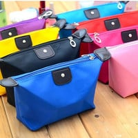 Promotion 6 Colors Lady's Black organizer bag multi functional cosmetic storage bags women bag insert with pockets