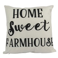 Home Sweet Farmhouse | Pillow Cover | 18 x 18 | Home Decor | Primitive Decor | Farmhouse | Rustic