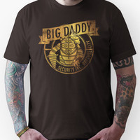 BigDaddy Security  -Gold with Texture Unisex T-Shirt