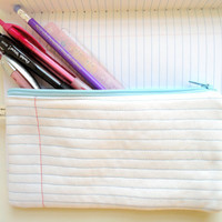 Notebook Page Pencil Case by handmadephilosophy on Etsy