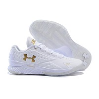 HCXX Men's Under Armor Curry 1 Low-Cup Basketball Shoes White 40-46
