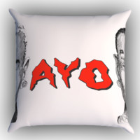 chris brown X tyga ayo Y0087 Zippered Pillows  Covers 16x16, 18x18, 20x20 Inches