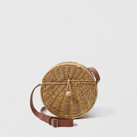 Womens Wicker Crossbody Bag | Womens Lived-In Summer Looks | Abercrombie.com