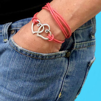 INFINITY Circle LEATHER Wrap Bracelet - Silver Circle Charm Triple Wrap Leather Bracelet w/ Extension Chain