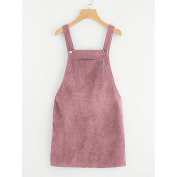 I Need Candy Overall Dress - Pink