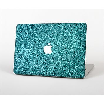 """The Teal Glitter Ultra Metallic Skin Set for the Apple MacBook Pro 13"""" with Retina Display"""