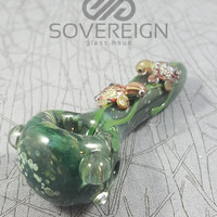 I Like Turtles Spoon Pipe by Empire Glassworks