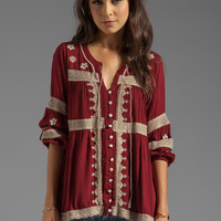 Free People Iris Boho Top in Deep Cranberry from REVOLVEclothing.com
