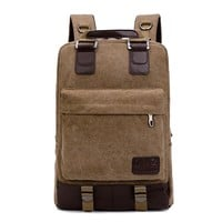 On Sale Comfort Casual Back To School College Hot Deal Stylish Canvas Backpack [10648211907]